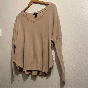 Forever 21 Sweaters - Lightweight Beige Sweater Size Small